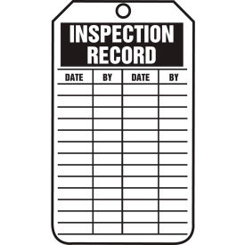 accuform trs307ptp inspection record tag, pf-cardstock, 25/pack Accuform TRS307PTP Inspection Record Tag, PF-Cardstock, 25/Pack