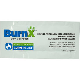 coretex® burn x lite 32733 cool gel pouch, minor burns & sunburns, lidocaine free, 300/case CoreTex® Burn X Lite 32733 Cool Gel Pouch, Minor Burns & Sunburns, Lidocaine Free, 300/Case