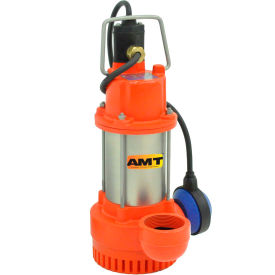 amt 598a-95 submersible drainage/sump utility pump with automatic float switch, npt outlet AMT 598A-95 Submersible Drainage/Sump Utility Pump with Automatic Float Switch, NPT Outlet
