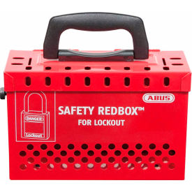 abus b835red safety redbox group lockout box with 12 padlock eyelets, red, 00298 ABUS B835RED Safety Redbox Group Lockout Box with 12 padlock eyelets, Red, 00298