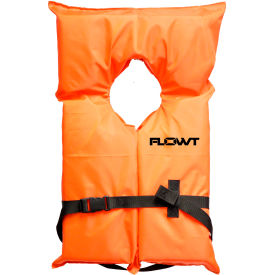 flowt 40000-unvpk ak1 life vest, orange, universal adult 4 pack