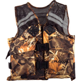 flowt 40627-s/m fishing vest, mesh, camo, small/medium Flowt 40627-S/M Fishing Vest, Mesh, Camo, Small/Medium