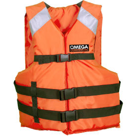 flowt 41000-os general purpose industrial life vest, type iii, orange, oversize adult
