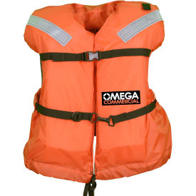 flowt 41300-unv commercial offshore life vest, type i, orange, universal adult Flowt 41300-UNV Commercial Offshore Life Vest, Type I, Orange, Universal Adult