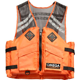 flowt 41500-s/m commercial comfort mesh deluxe life vest, type iii, orange, small/medium Flowt 41500-S/M Commercial Comfort Mesh Deluxe Life Vest, Type III, Orange, Small/Medium