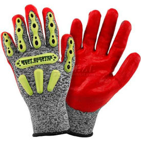 r2 flx knuckle protection gloves 713sntprg/m, red, medium R2 FLX Knuckle Protection Gloves 713SNTPRG/M, Red, Medium