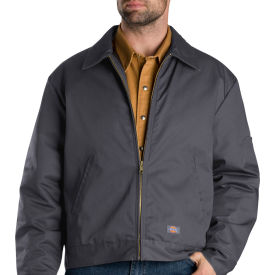 dickies® tj15 insulated eisenhower jacket, charcoal gray, xl