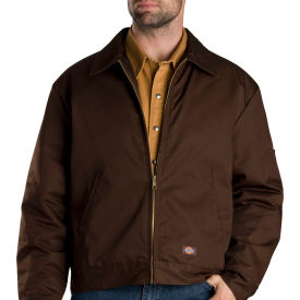dickies® tj15 insulated eisenhower jacket, dark brown, l