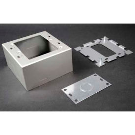 "wiremold al2044-2 deep switch & receptacle box, 2-gang, 120v, 15a, 4-5/8""l Wiremold AL2044-2 Deep Switch & Receptacle Box, 2-Gang, 120V, 15A, 4-5/8""L"