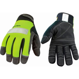 all purpose glove - safety lime lined w/ kevlar® - medium All Purpose Glove - Safety Lime Lined w/ KEVLAR® - Medium