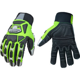 high visibility, heavy duty performance titan glove - lined w/ kevlar® - extra large High Visibility, Heavy Duty Performance Titan Glove - Lined w/ KEVLAR® - Extra Large
