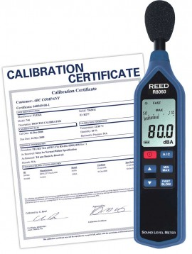 Sound Level Meter with Bargraph, Type 2, 30 to 130 dB, includes Traceable Certificate R8060, Reed Instruments, Sound Level, dB Level, Sound Level Meter, Bargraph Meter, Type 2, Testing Equipment, Measuring Equipment