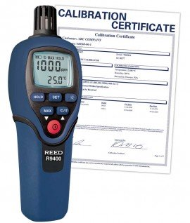 Carbon Monoxide Meter with Temperature, 1000ppm, -4 to 158?F (-20 to 70?C), includes Traceable Certificate R9400, Reed Instruments, Gas Detector, Carbon Monoxide Detector, Testing Equipment, Measuring Equipment