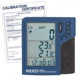 Carbon Monoxide Monitor with Temperature and Humidity, includes Traceable Certificate R9450, Reed Instruments, Gas Detector, Carbon Monoxide Detector, Carbon Monoxide Monitor, Testing Equipment, Measuring Equipment