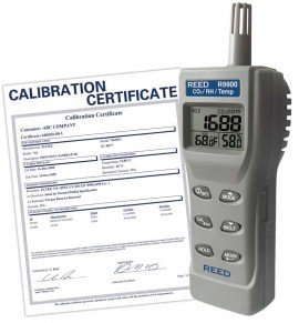 Indoor Air Quality CO2 Meter, includes Traceable Certificate R9900, Reed Instruments, Heat Stress, Heat Stress Protection, Air Quality, Air Quality Meter, Testing Equipment, Measuring Equipment