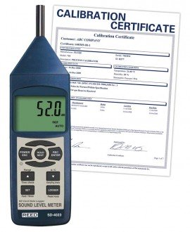SD Series Sound Level Meter, Datalogger, 30 to 130dB, includes Traceable Certificate SD-4023, Reed Instruments, Sound Level, dB Level, Sound Level Meter, Datalogger, Testing Equipment, Measuring Equipment