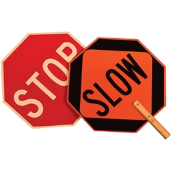 Stop & Slow Aluminum Paddle Sign