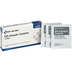 BZK Antiseptic Towelettes (Unitized Refill), 10/Box