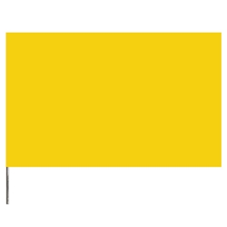 "Presco Standard Marking Flags, 21"", Yellow, 1000/Case"