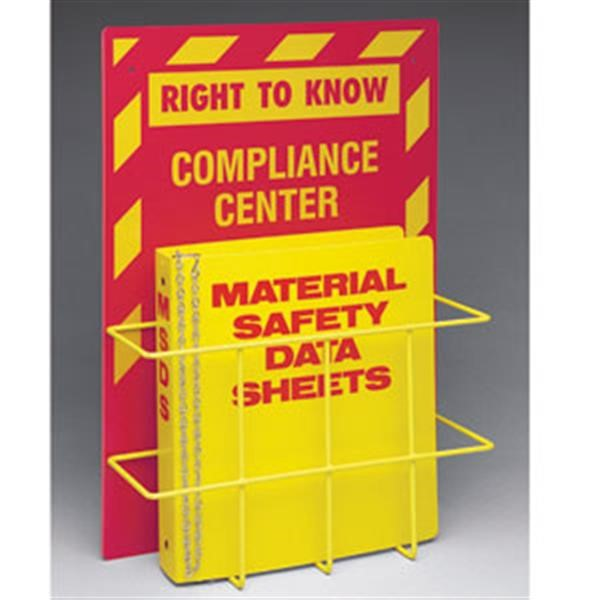 Brady® Right to Know Compliance Center w/ MSDS Binder