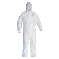 KleenGuard* A20 Breathable Particle Protection Coveralls w/ Hood & Elastic Back, Wrists, & Ankles