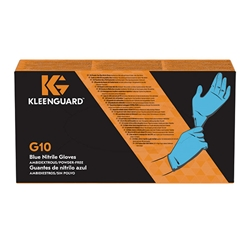 KleenGuard* G10 Blue Nitrile Gloves, Large
