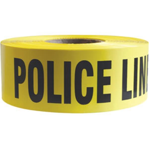 "Presco Barricade Tape, 2.5 mil, ""Police Line Do Not Cross"", Yellow, 8/Case"