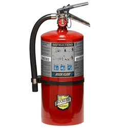 "Buckeye 10 lb ABC High Flow Extinguisher, 16 3/4""H x 8 1/4""W x 6""D, 1A:20B:C"