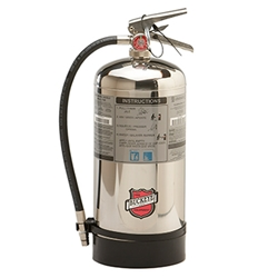 "Buckeye Wet Chemical 6 L Class K Extinguisher, 6 L, 19 1/4""H x 9""W x 7""D, 1A:K"