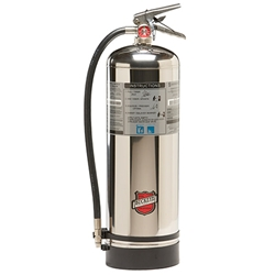 "Buckeye Wet Chemical 2.5 Gal Class K Extinguisher, 24 1/2""H x 9""W x 7""D, 1A:K"