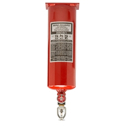 "Buckeye 5 lb Mini-Guard ABC Extinguisher, Vertical Mount, 17 1/4""L x 4 1/4""D"