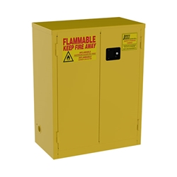 "Jamco Safety Cabinet, Standard, 28 gal, Manual  Doors, 44""H x 34""W x 18""D"