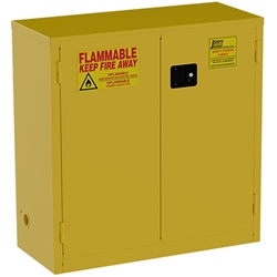 "Jamco Safety Cabinet, Standard, 30 gal, Manual Doors, 44""H x 43""W x 18""D"