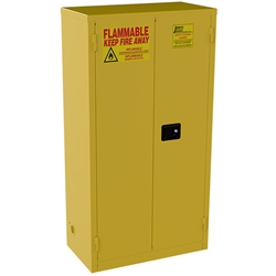 "Jamco Safety Cabinet, Standard, 44 gal, Manual Doors, 65""H x 34""W x 18""D"