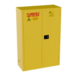 "Jamco Safety Cabinet, Standard, 45 gal, Manual Doors, 65""H x 43""W x 18""D"