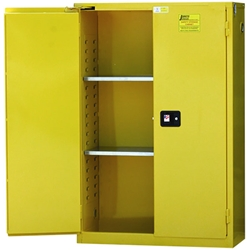 "Jamco Safety Cabinet, Standard, 45 gal, Self-Closing Doors, 65""H x 43""W x 18""D"