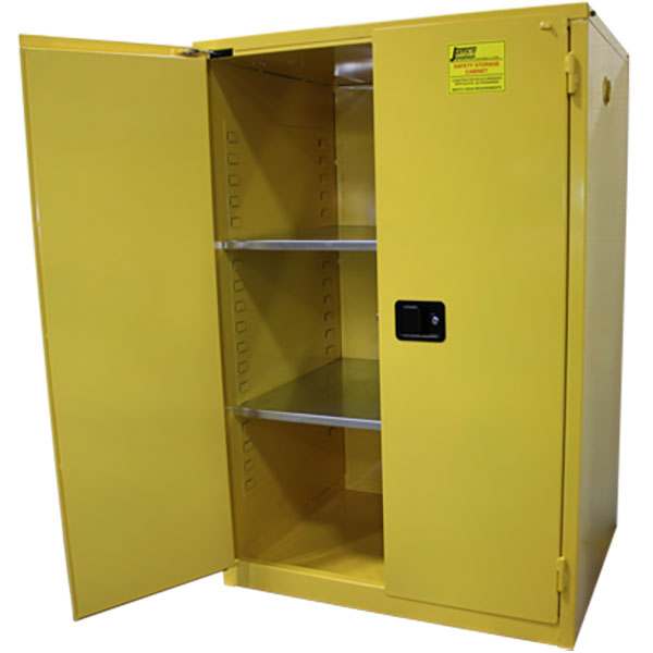 "Jamco Safety Cabinet, Standard, 90 gal, Self-Closing Doors, 65""H x 43""W x 34""D"