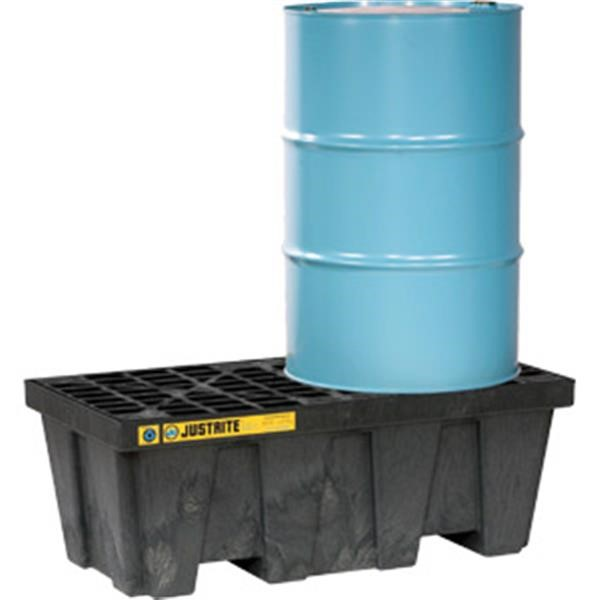 Justrite® EcoPolyBlend™ Spill Control Pallet, 2-Drum, 66 gal Sump Capacity