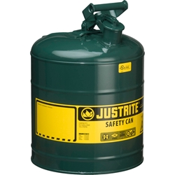 Justrite® Type I Safety Can, 5 gal, Green