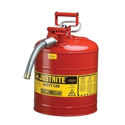 "Justrite® Type II Safety Can, 5 gal, 5/8"" Hose, Red"