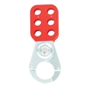 "TruForce™ Safety Lockout Hasp, Vinyl-Coated Steel w/ 1"" Jaws"
