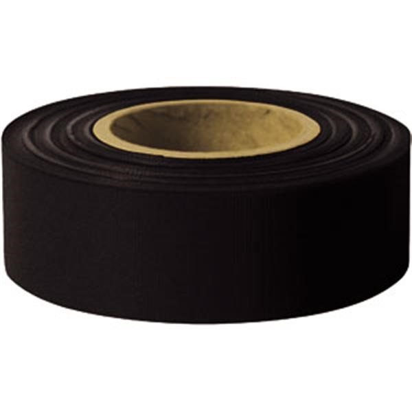 "Presco Solid-Color Roll Flagging, Standard, Taffeta, 1 3/16"" x 300, Black"